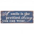 Drevená tabuľa SMILE