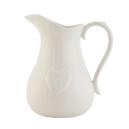Biely keramický džbán so srdiečkom