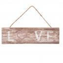 Drevená tabuľka LOVE
