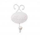 Biely kovový vešiak na uterák