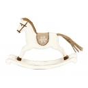 Drevený hojdací koník - biely